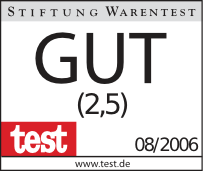 A label from Stiftung Warentest